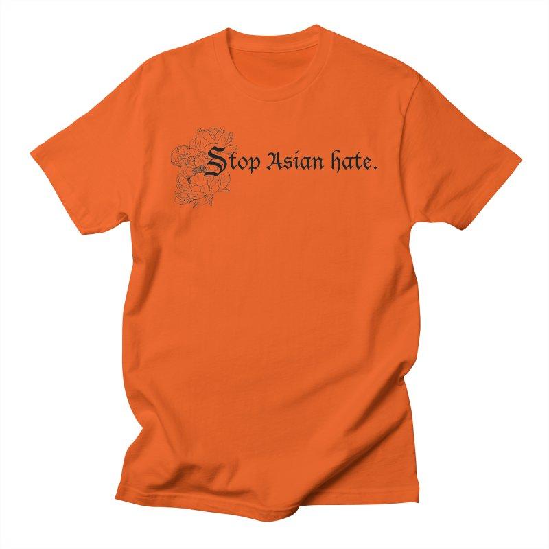 Stop Asian Hate - Black Peonies Women's T-Shirt by Naomi Mariko Creates