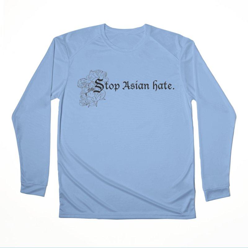 Stop Asian Hate - Black Peonies Men's Longsleeve T-Shirt by Naomi Mariko Creates