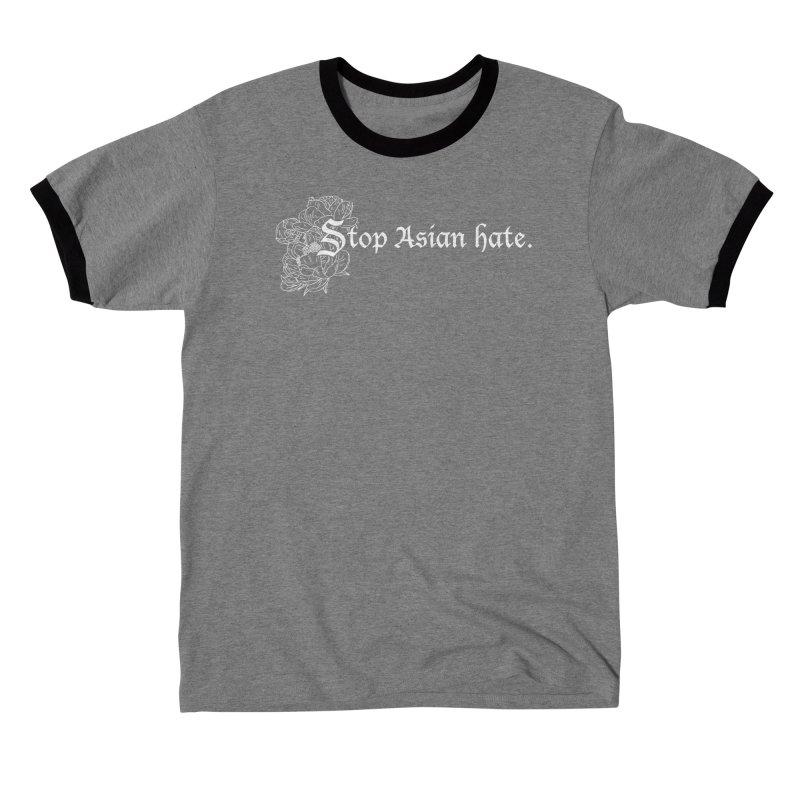 Stop Asian Hate - White Peonies Men's T-Shirt by Naomi Mariko Creates