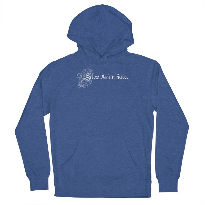 Stop Asian Hate - White Peonies Women's Pullover Hoody by Naomi Mariko Creates