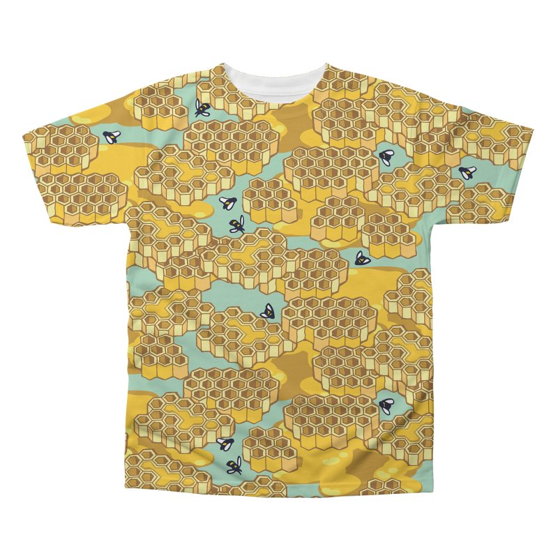 Bees and Honeycomb Men's Regular All Over Print by bad arithmetic