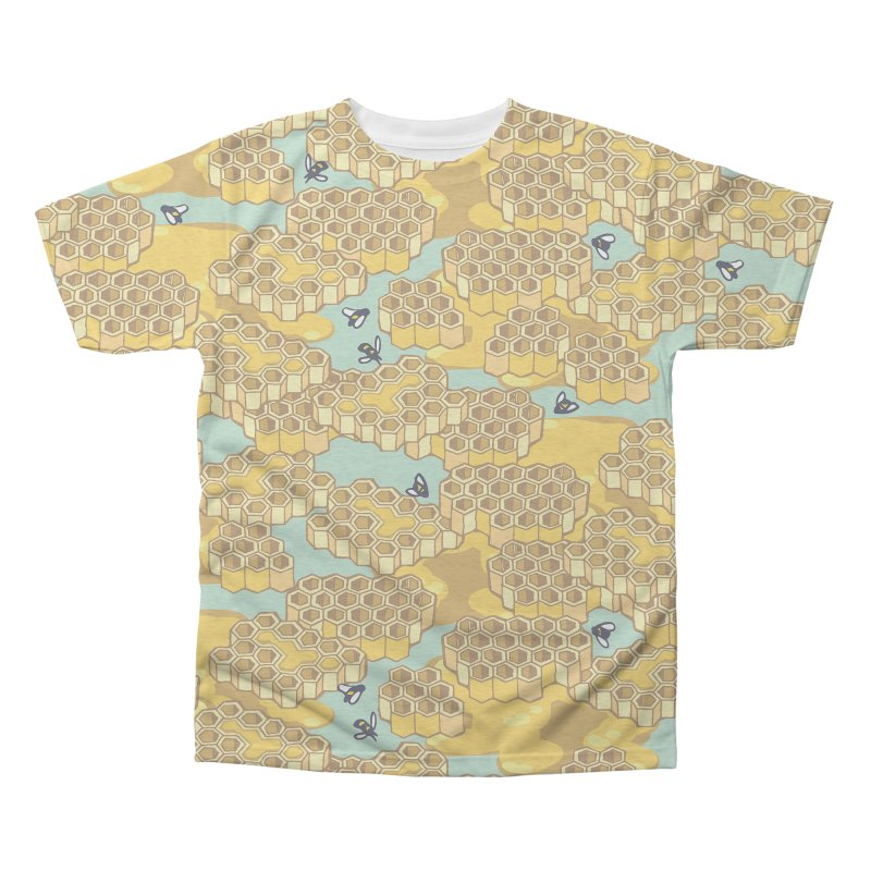 Bees and Honeycomb Men's Triblend All Over Print by bad arithmetic