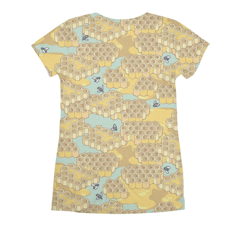 Bees and Honeycomb Women's All Over Print by bad arithmetic