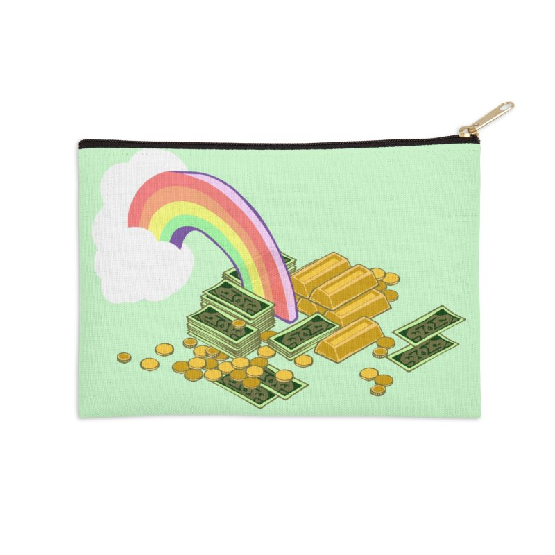 Gold at the End of the Rainbow Accessories Zip Pouch by bad arithmetic