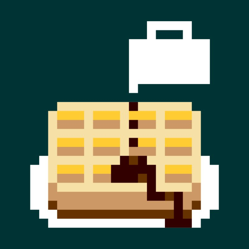 8-Bit Eggo by napiform clip art