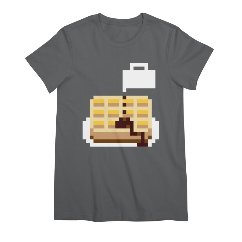 8-Bit Eggo Women's Premium T-Shirt by bad arithmetic