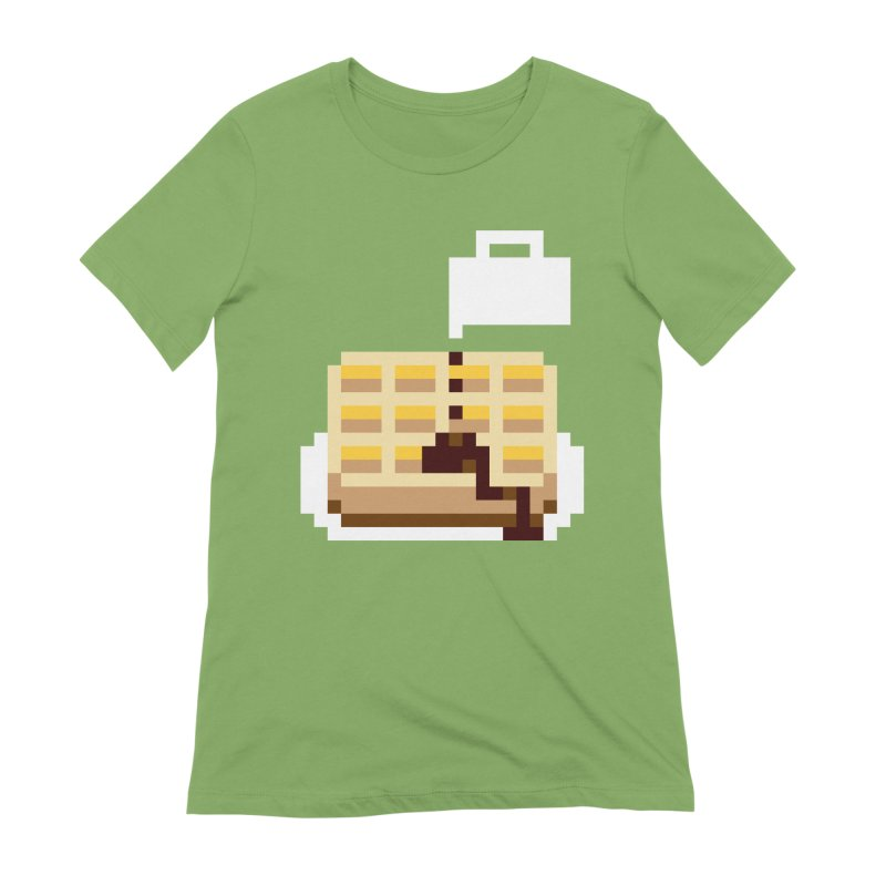 8-Bit Eggo Women's Extra Soft T-Shirt by bad arithmetic