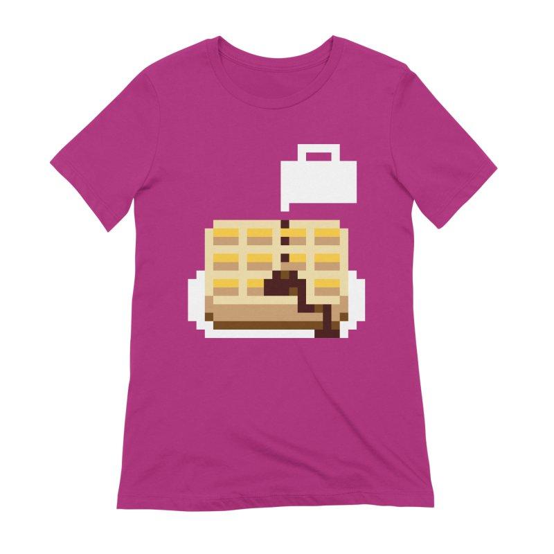 8-Bit Eggo Women's Extra Soft T-Shirt by bad arithmetic