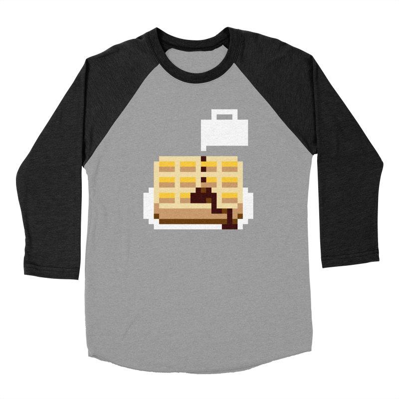 8-Bit Eggo Women's Baseball Triblend Longsleeve T-Shirt by bad arithmetic