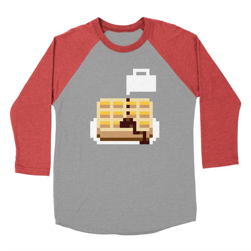 8-Bit Eggo Men's Baseball Triblend Longsleeve T-Shirt by bad arithmetic