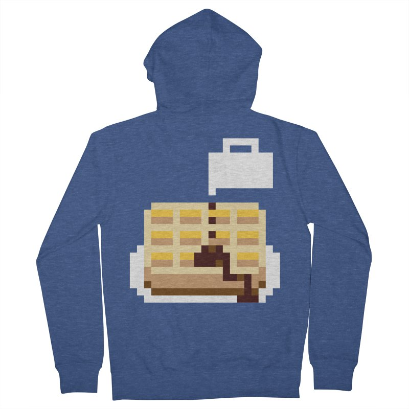 8-Bit Eggo Women's French Terry Zip-Up Hoody by bad arithmetic