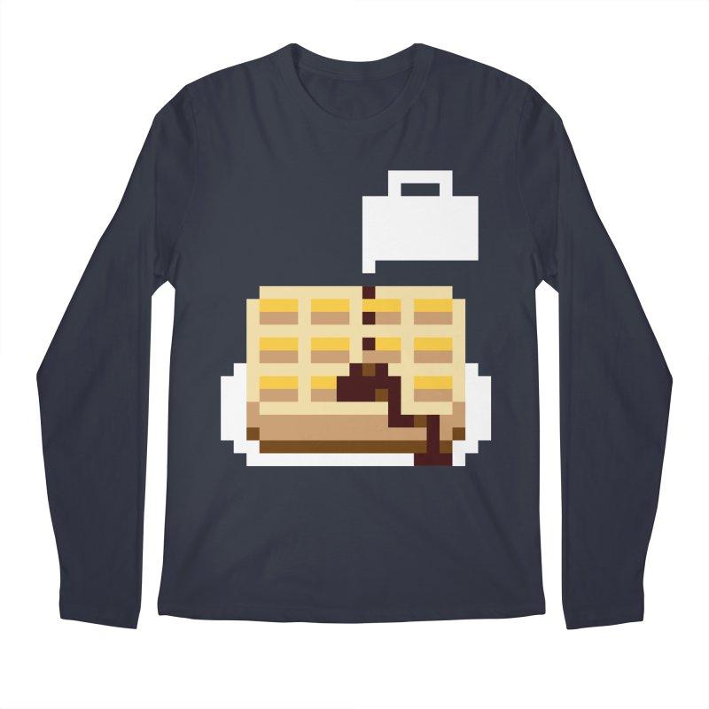 8-Bit Eggo Men's Regular Longsleeve T-Shirt by bad arithmetic