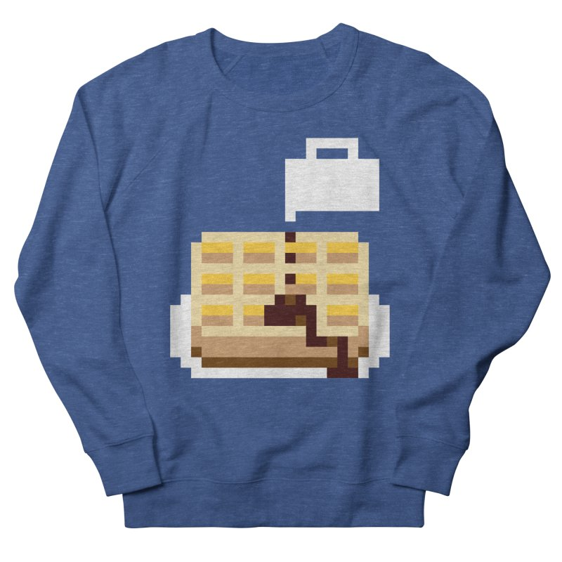 8-Bit Eggo Men's French Terry Sweatshirt by bad arithmetic