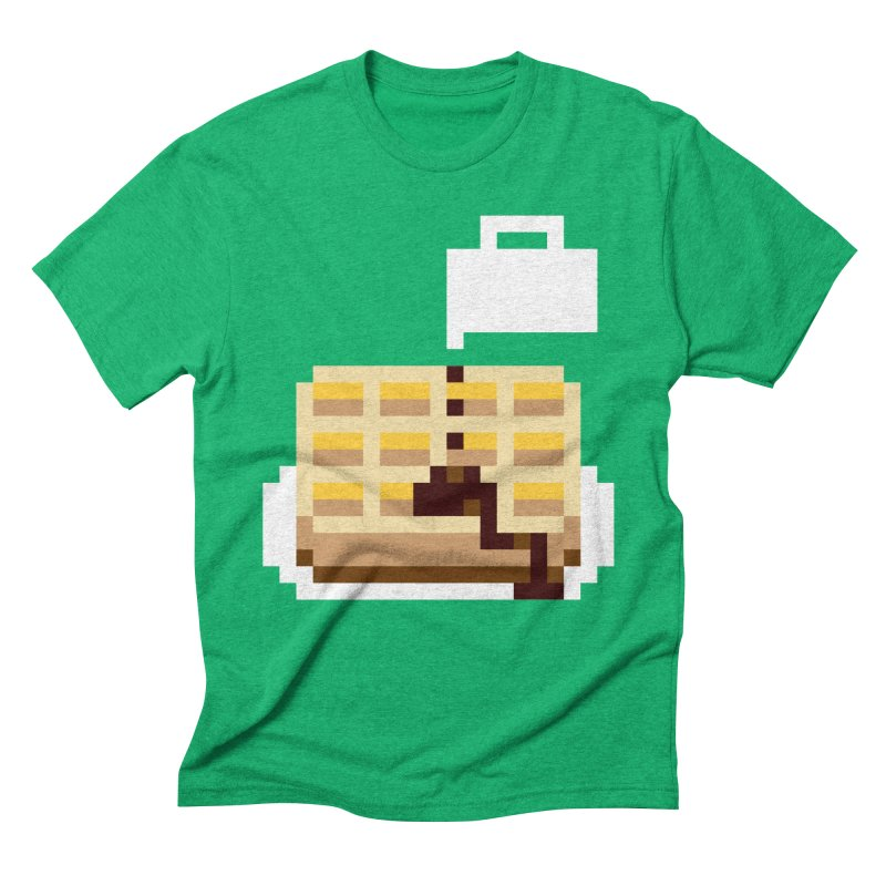 8-Bit Eggo Men's Triblend T-Shirt by bad arithmetic