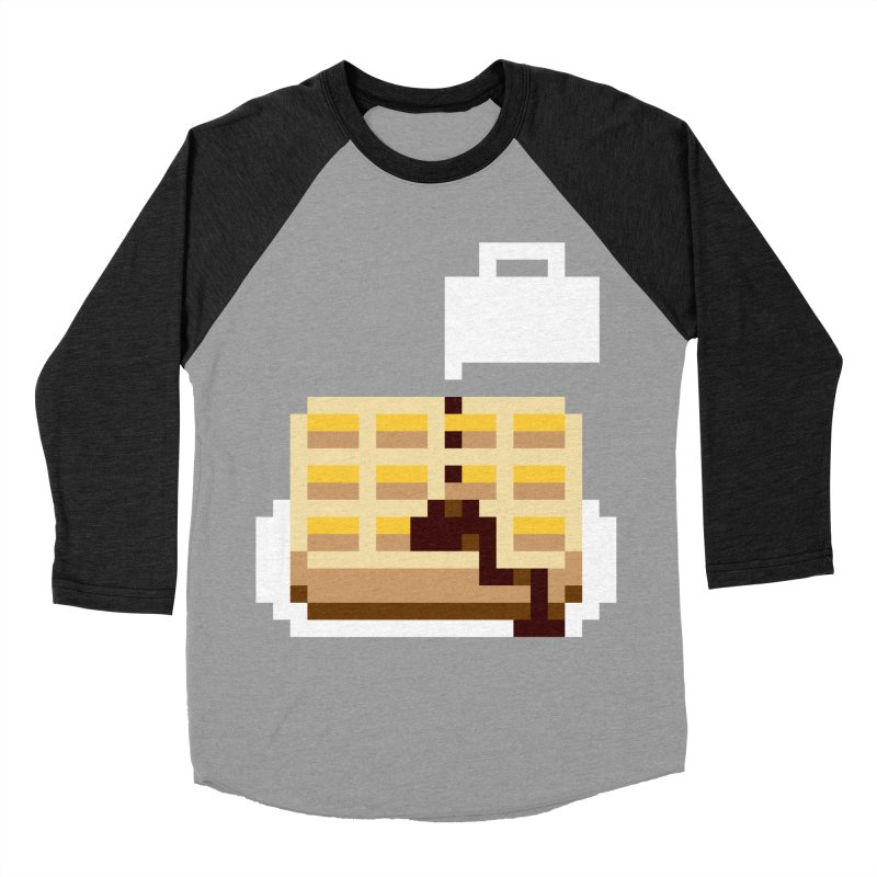 8-Bit Eggo Women's Baseball Triblend Longsleeve T-Shirt by bad arithmetic