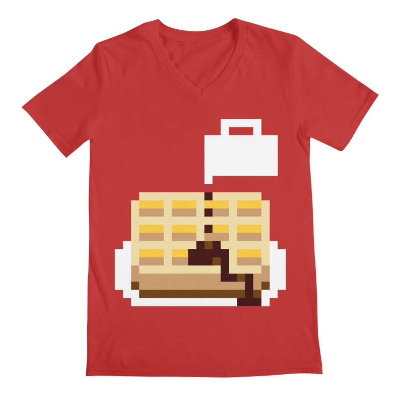 8-Bit Eggo Men's V-Neck by bad arithmetic