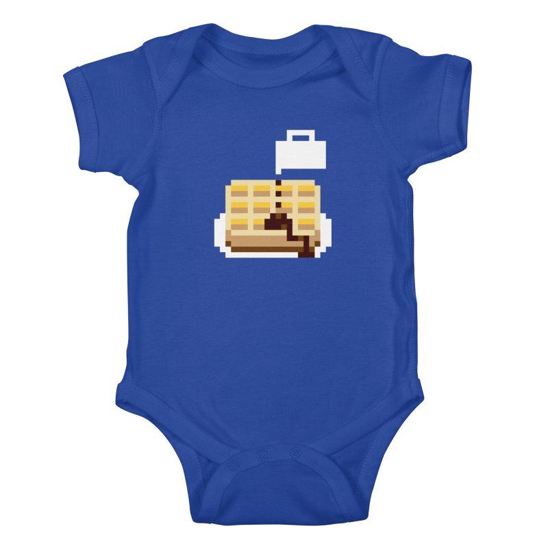 8-Bit Eggo Kids Baby Bodysuit by bad arithmetic