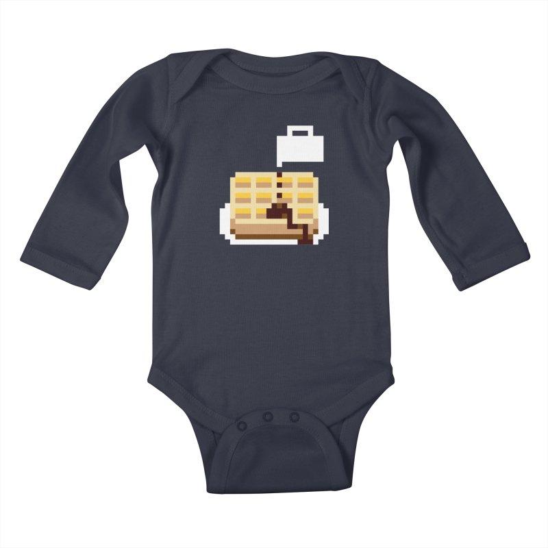 8-Bit Eggo Kids Baby Longsleeve Bodysuit by bad arithmetic