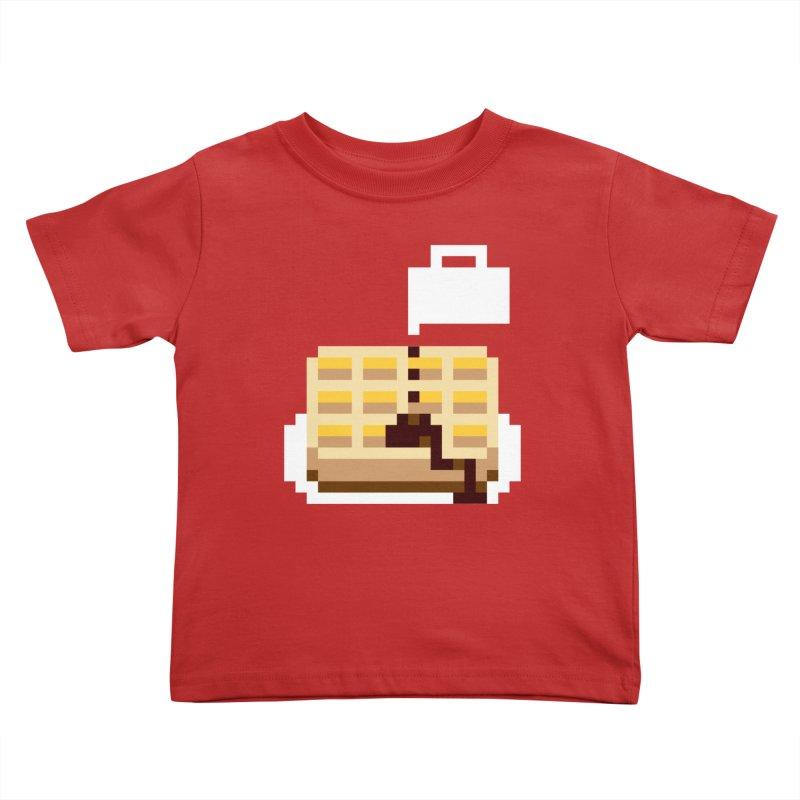 8-Bit Eggo Kids Toddler T-Shirt by bad arithmetic
