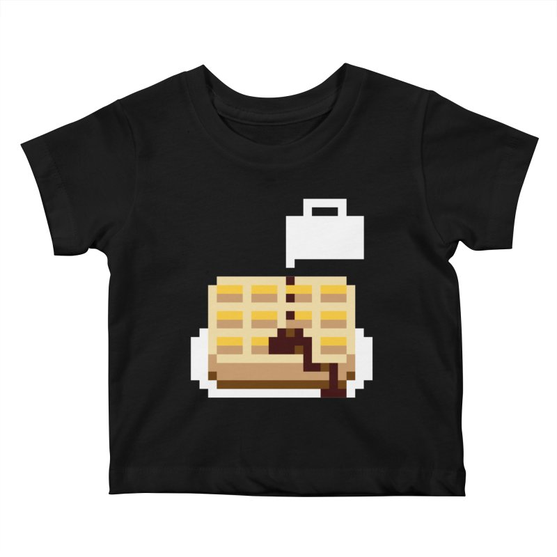 8-Bit Eggo Kids Baby T-Shirt by bad arithmetic