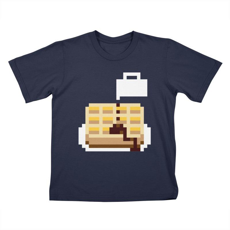 8-Bit Eggo Kids T-Shirt by bad arithmetic