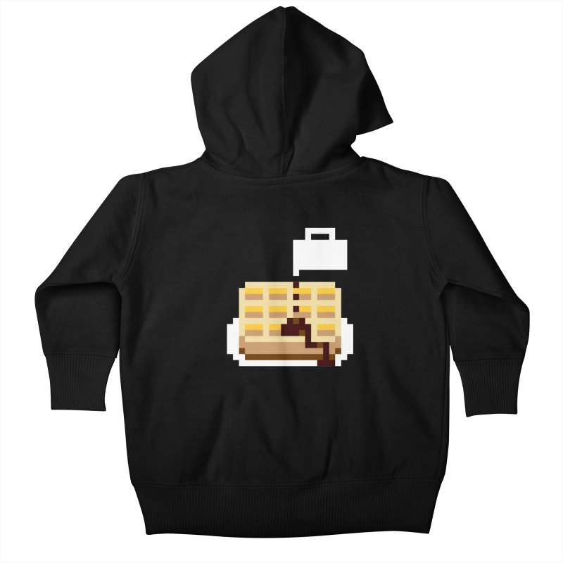 8-Bit Eggo Kids Baby Zip-Up Hoody by bad arithmetic