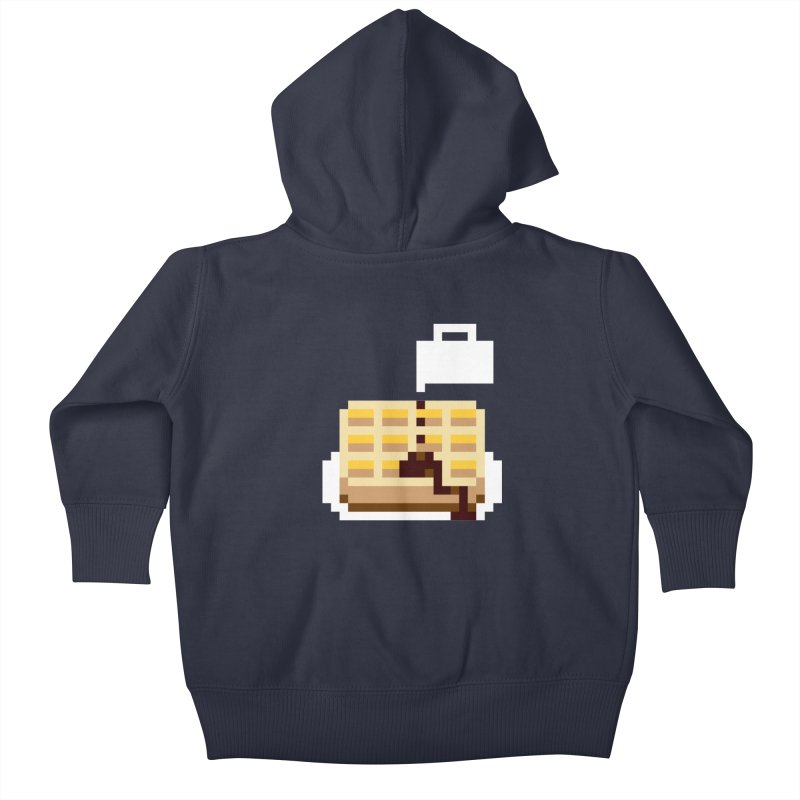 8-Bit Eggo Kids Baby Zip-Up Hoody by napiform clip art