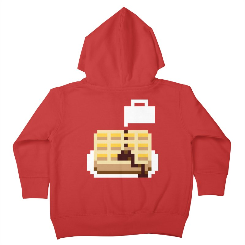 8-Bit Eggo Kids Toddler Zip-Up Hoody by bad arithmetic