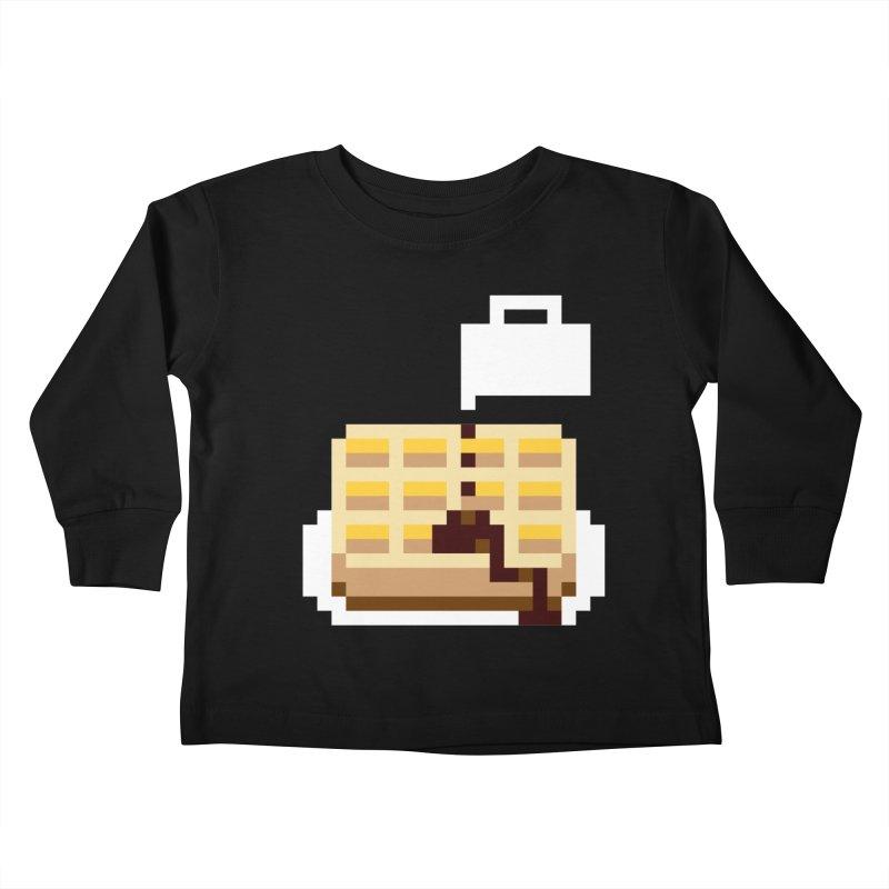 8-Bit Eggo Kids Toddler Longsleeve T-Shirt by bad arithmetic