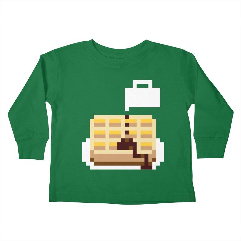 8-Bit Eggo Kids Toddler Longsleeve T-Shirt by napiform clip art