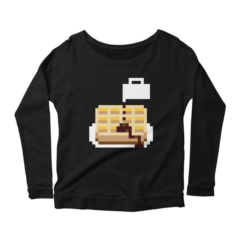 8-Bit Eggo Women's Scoop Neck Longsleeve T-Shirt by bad arithmetic