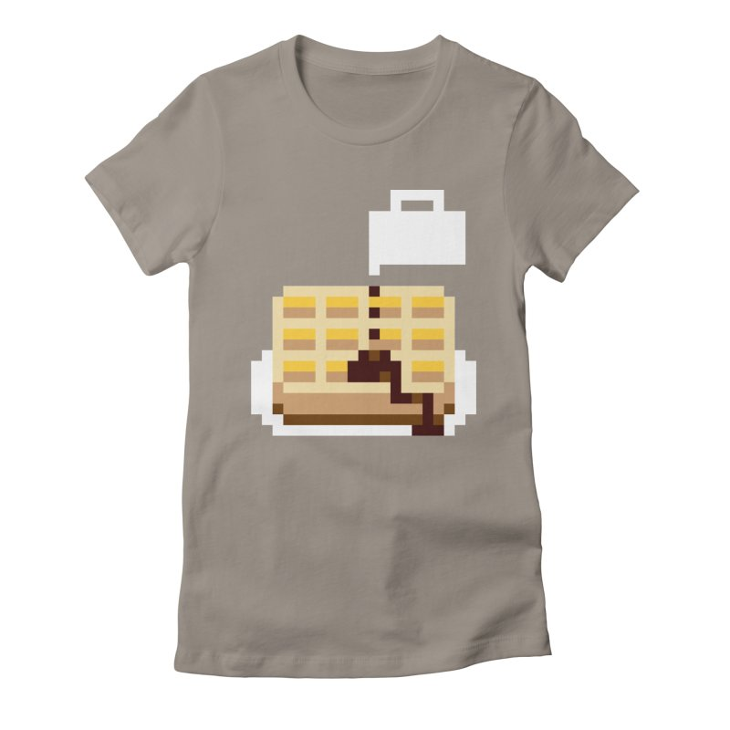 8-Bit Eggo Women's Fitted T-Shirt by bad arithmetic