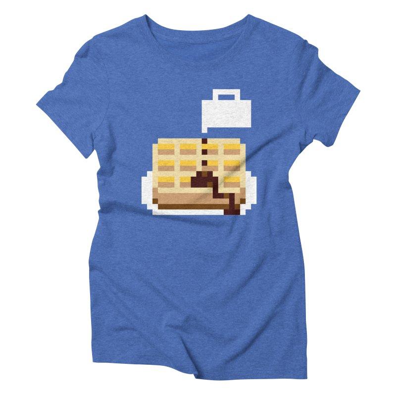 8-Bit Eggo Women's Triblend T-Shirt by napiform clip art
