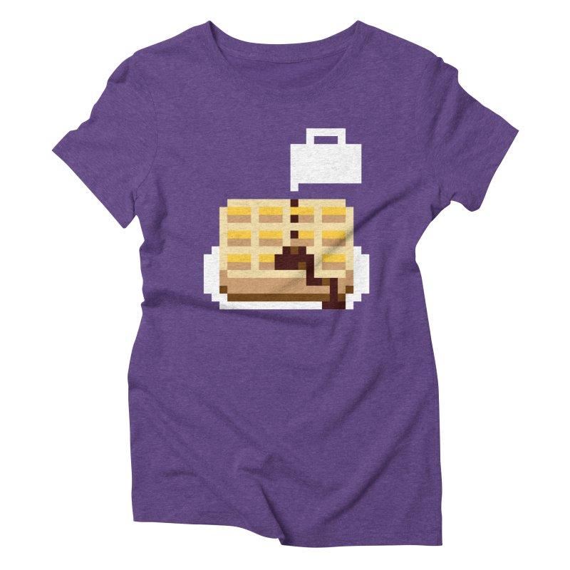 8-Bit Eggo Women's Triblend T-Shirt by bad arithmetic