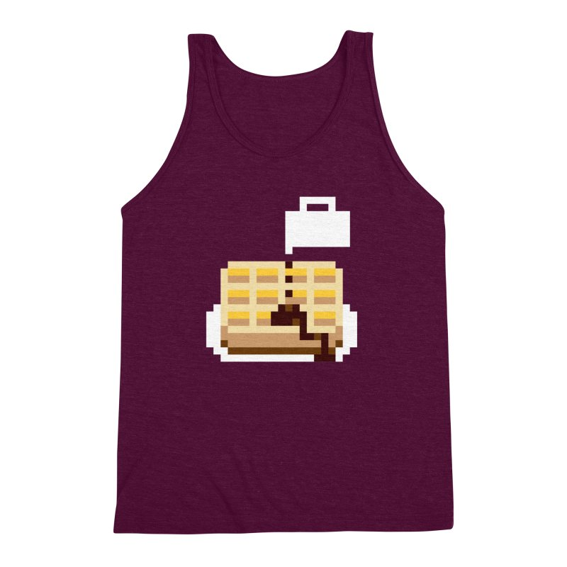 8-Bit Eggo Men's Triblend Tank by napiform clip art