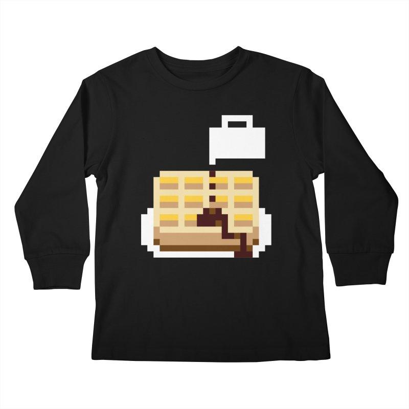 8-Bit Eggo Kids Longsleeve T-Shirt by bad arithmetic