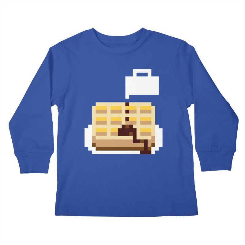 8-Bit Eggo Kids Longsleeve T-Shirt by bad arithmetic