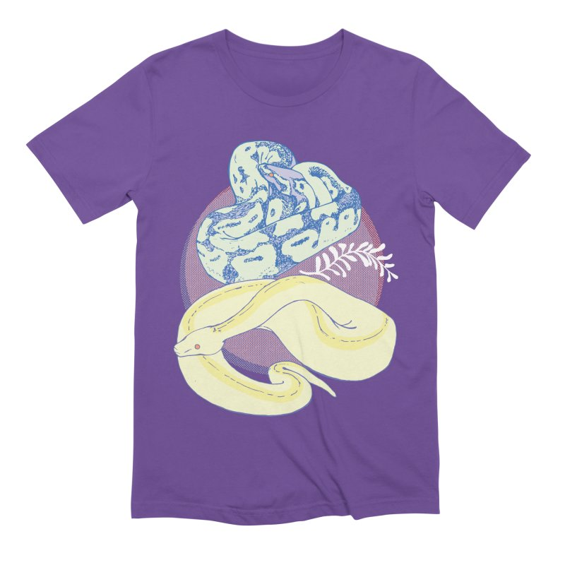 Pastel Pythons Men's Extra Soft T-Shirt by bad arithmetic