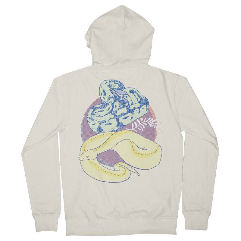 Pastel Pythons Women's French Terry Zip-Up Hoody by bad arithmetic