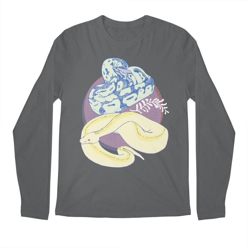 Pastel Pythons Men's Regular Longsleeve T-Shirt by bad arithmetic