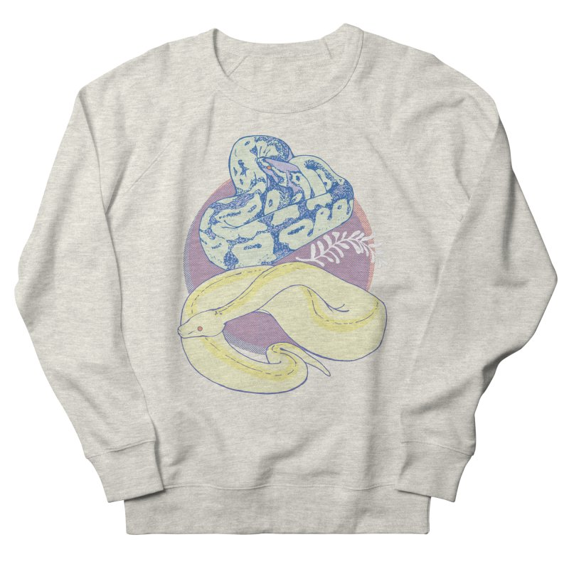 Pastel Pythons Men's French Terry Sweatshirt by bad arithmetic