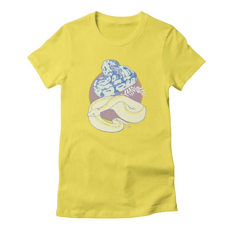 Pastel Pythons Women's T-Shirt by bad arithmetic