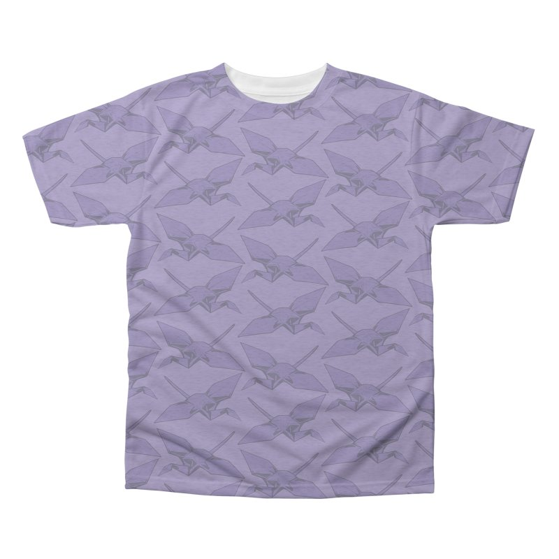 Purple Crane Men's Triblend All Over Print by bad arithmetic