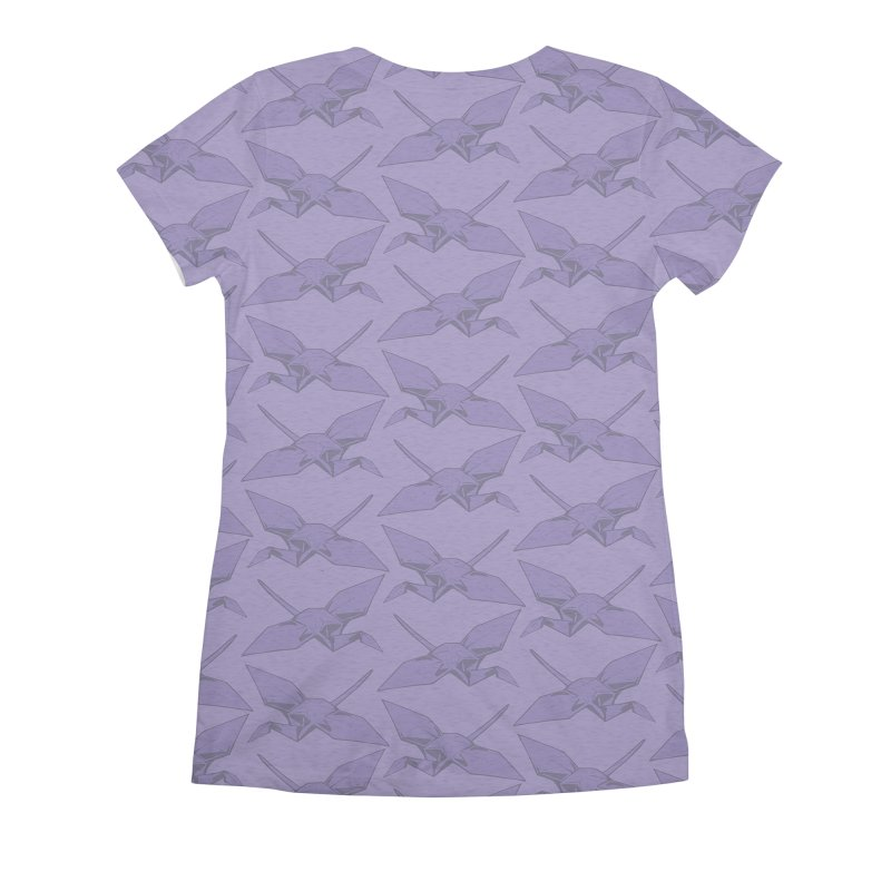 Purple Crane Women's All Over Print by bad arithmetic
