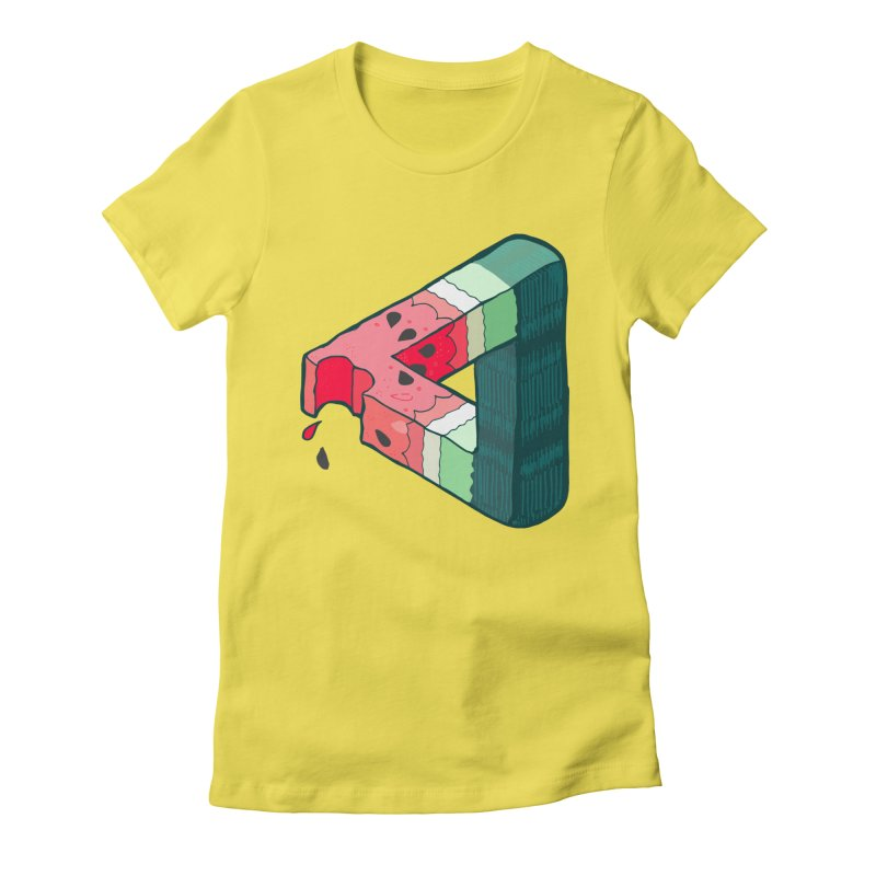 Juicy Geometry Women's Fitted T-Shirt by napiform clip art