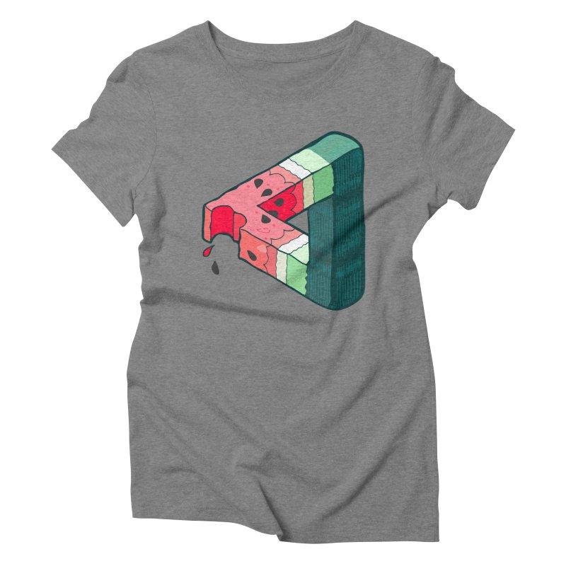 Juicy Geometry Women's Triblend T-Shirt by napiform clip art