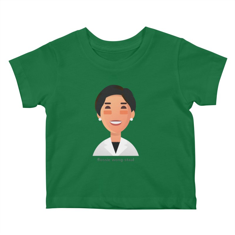 Flossie Wong-Staal Kids Baby T-Shirt by Narrative Shop