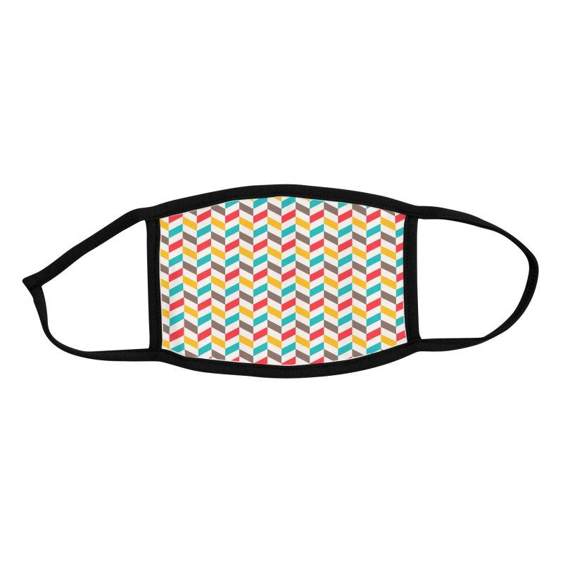 Retro Herringbone Accessories Face Mask by Narrative Shop