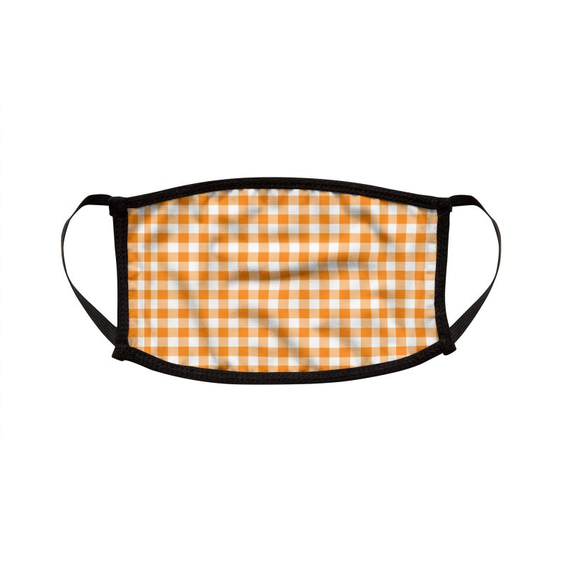 Pumpkin Gingham Accessories Face Mask by Narrative Shop