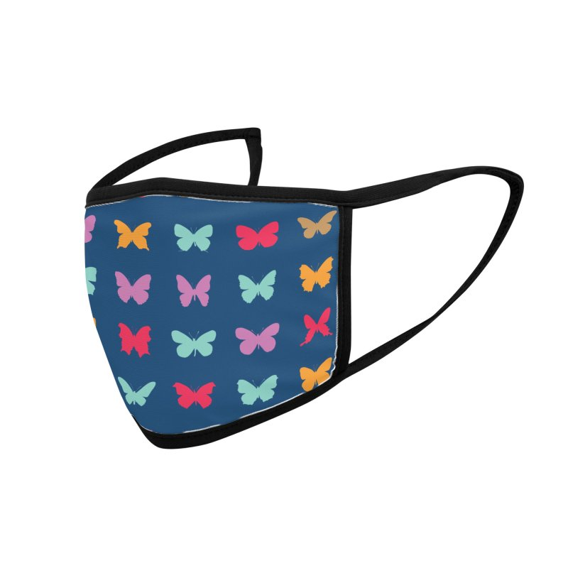 Butterfly Silhouettes Accessories Face Mask by Narrative Shop